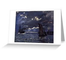 Claude Monet - A Seascape. Shipping by Moonlight  Greeting Card