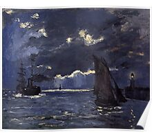 Claude Monet - A Seascape. Shipping by Moonlight  Poster