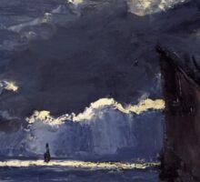 Claude Monet - A Seascape. Shipping by Moonlight  Sticker