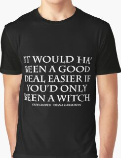 Outlander - Witch Quote WHITE Graphic T-Shirt