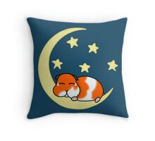 A cute hamster sleeping under the stars #redbubbleartparty Throw Pillow