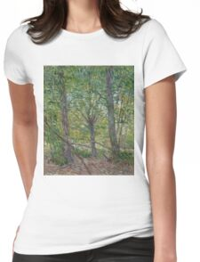 Vincent Van Gogh - Trees, July 1887 Womens Fitted T-Shirt