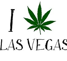 I Love Las Vegas Weed T-Shits by MrAnthony88