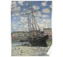 Claude Monet - Boat Lying at Low Tide (1881) Poster