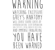 WARNING: Grey's Anatomy by iamoniv
