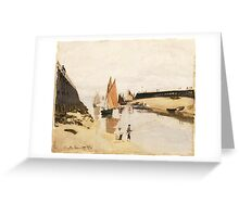 Claude Monet - Breakwater at Trouville.  Low Tide  Greeting Card