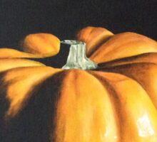 Dramatic Pumpkin Sticker
