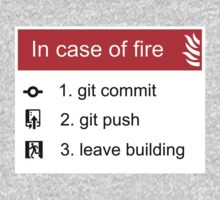 In case of fire Git commit Git push Kids Tee