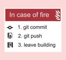 In case of fire Git commit Git push Kids Tee
