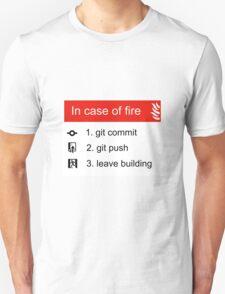 In case of fire Git commit Git push T-Shirt