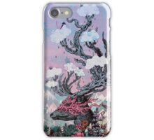 Journeying Spirit (deer) sunset iPhone Case/Skin