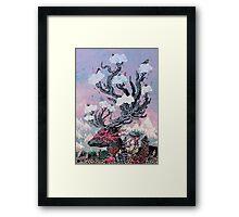 Journeying Spirit (deer) sunset Framed Print