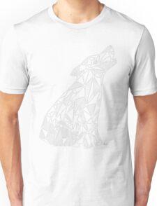 Wolf (white) - geometric Unisex T-Shirt