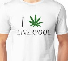 I Love Liverpool Weed T-Shirts Unisex T-Shirt