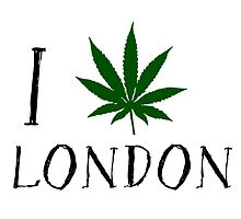 I Love London Weed T-Shirts by MrAnthony88