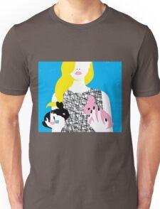 Wonderland girl with two rabbits Unisex T-Shirt