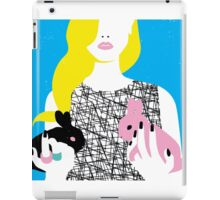 Wonderland girl with two rabbits iPad Case/Skin