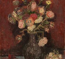 Vincent Van Gogh - Vase with Chinese asters and gladioli, August 1886 - September 1886 by famousartworks