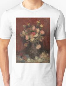 Vincent Van Gogh - Vase with Chinese asters and gladioli, August 1886 - September 1886 T-Shirt