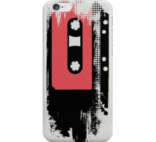 Grunge faded analogue retro audio tape iPhone Case/Skin