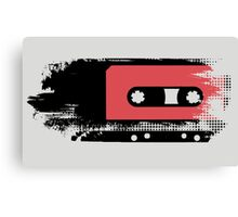 Grunge faded analogue retro audio tape Canvas Print