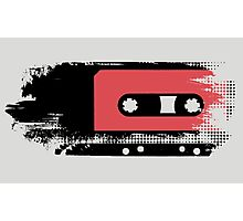 Grunge faded analogue retro audio tape Photographic Print
