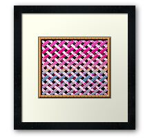 Cute fun style Patch  Framed Print