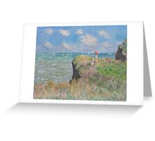 Claude Monet - Cliff Walk at Pourville (1882) Greeting Card