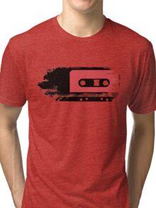 Grunge faded analogue retro audio tape Tri-blend T-Shirt