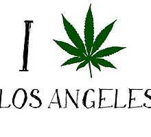 I Love Los Angeles Weed T-Shirts by MrAnthony88