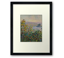Claude Monet - Flower Beds at Vetheuil (1881) Framed Print
