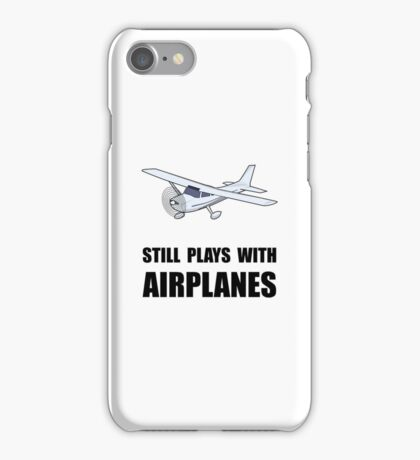 Plays With Airplanes iPhone Case/Skin