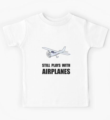 Plays With Airplanes Kids Tee