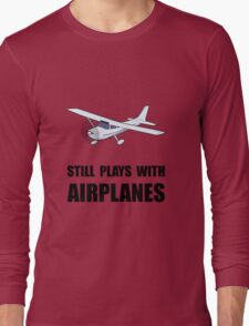Plays With Airplanes Long Sleeve T-Shirt