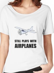 Plays With Airplanes Women's Relaxed Fit T-Shirt