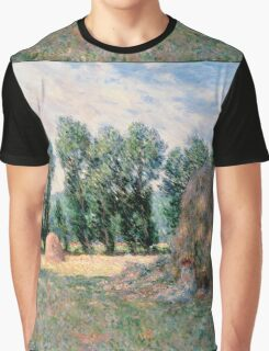 Claude Monet - Haystacks end of Summer  Graphic T-Shirt