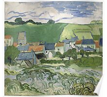 Vincent Van Gogh - View of Auvers, May 1890 - June 1890 Poster