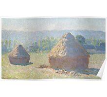 Claude Monet - Haystacks (1885) Poster