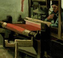 Vincent Van Gogh - Weaver, 1884 Sticker