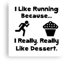 Running Dessert Canvas Print