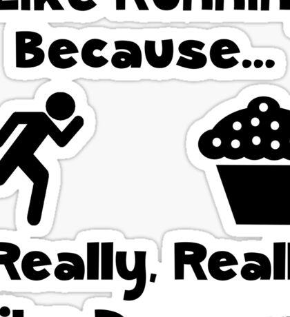 Running Dessert Sticker