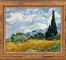 Vincent Van Gogh - Wheat Field with Cypresses, 1889 by famousartworks