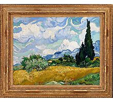Vincent Van Gogh - Wheat Field with Cypresses, 1889 Photographic Print
