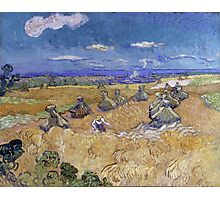 Vincent Van Gogh - Wheat Fields with Reaper, Auvers, 1890 Photographic Print