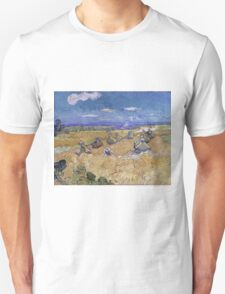Vincent Van Gogh - Wheat Fields with Reaper, Auvers, 1890 T-Shirt