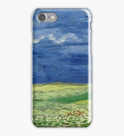 Vincent Van Gogh - Wheatfield under thunderclouds, Impressionism. Van Gogh iPhone Case/Skin