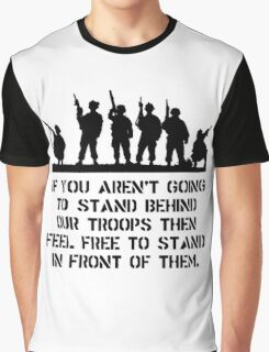 Stand Behind Troops Graphic T-Shirt
