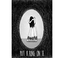 Love Is Scary: Put A Ring On It Photographic Print