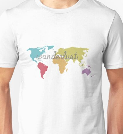 World Map - Wanderlust Unisex T-Shirt