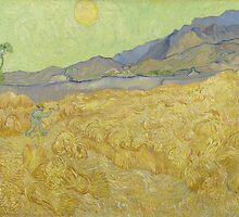 Vincent Van Gogh - Wheatfield with a reaper, September 1889 - 1889 by famousartworks